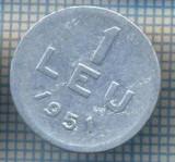 AX 754 MONEDA- ROMANIA - 1 LEU -ANUL 1951 -STAREA CARE SE VEDE