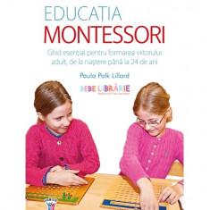 Educația Montessori. Ghid esențial pentru formarea viitorului adult, de la naștere până la 24 de ani