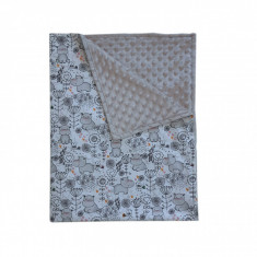 Ingrid's Fabrics Paturica bebelusi Minky - Hippo - Gri 75x95cm