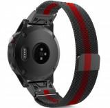 Cumpara ieftin Curea ceas Smartwatch Garmin Fenix 3 / Fenix 5X, Milanese Loop iUni 26 mm Otel Inoxidabil
