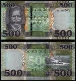 = SOUTH SUDAN - 500 POUND - 2018 - UNC    =