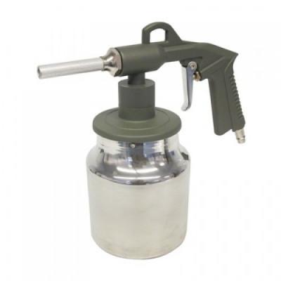 Pistol de sablat Carpoint cu recipient din aluminiu de 1 kg Kft Auto foto