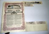 Actiuni Concordia 250 lei 1924 + 3 cupoane ptr. dividende anuale_serie 130200