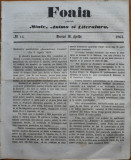 Ziarul Foaia pentru minte , inima si literatura , nr. 14 , 1862 , Klein