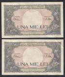 A5763 1000 lei 1941 2 Serii Consecutive