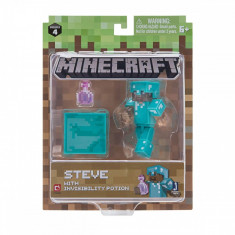 Figurina Minecraft Core Steve with Inviibility Potion Seria 4