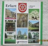 Erfurt Metropola Turingiei. DDR(Germania de Est).Pliant turistic.