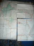 Harta mare a Judetului BUZAU 1971 4 buc. de dim.=69x65cm/buc  RSR Inst. Geodezie