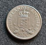 Antilele Olandeze 25 cent centi 1970, America Centrala si de Sud