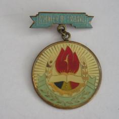 BICP - 2 - COMUNISTA PIONIERI - INSCRIPTIA PIONIER DE FRUNTE - DIAMETRU 2,8 MM