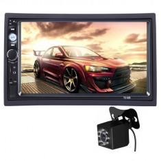 2Din, mp3/mp5 player auto universal 7010b, Navigatie MirrorLink, Rama, Camera patrata