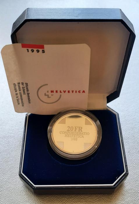 Moneda tematica de argint - 20 Francs 1995, Elvetia - Proof
