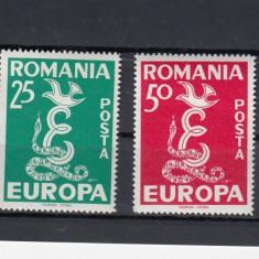 ROMANIA EXIL 1956 EUROPA  DANTELAT PROPAGANDA ANTICOMUNISTA EMISIUNEA 12 MNH
