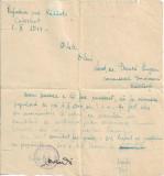 1944 Eugen Frunza nota primita de la prefect Radauti