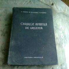 CHIRURGIE INFANTILA DE URGENTA , D VEREANU