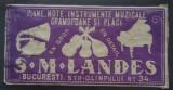 Marca Firma S. M. LANDES București : piane, gramofoane, plăci - anii 1920