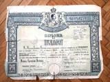 Diploma de bacalureat veche