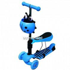 Trotineta Copii Micro Scooter 3in1 2-7 Ani 25Kg Albastra