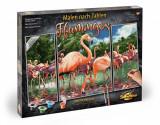 Kit 3 tablouri pictura pe numere Schipper Flamingo, Simba