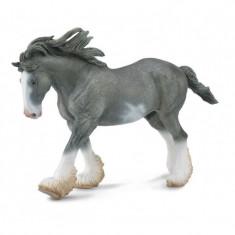 Figurina Armasar Clydesdale Negru, 19 x 12 cm, 3 ani+