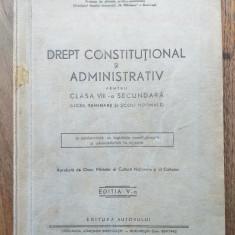 DREPT CONSTITUTIONAL SI ADMINISTRATIV , CCA 1942