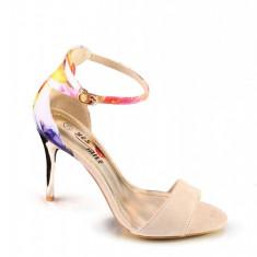 PDS68-15 Sandale elegante cu imprimeu colorat