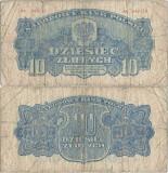 1944, 10 Zlotych (P-111a) - Polonia