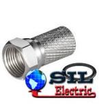 Conector F cu lungimea de 20mm pt cabluri cu diamentru de 7mm si garnitura de cauciuc