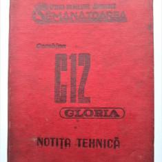 "Carte Tehnica, 1970: Notita Tehnica Combina Autopropulsata C 12 ""Gloria"""
