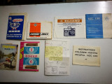 Prospecte / Pliante / Instructiuni Electronice Radio romanesti vechi.