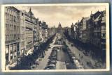 AX 293 CP VECHE -PRAGA-PIATA VENCESLAS -MASINI DE EPOCA, CETATENI, TRASURI 1934, Circulata, Printata