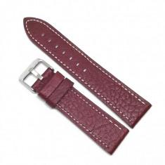 Curea de ceas Burgundy din piele naturala - 22mm - WZ3569