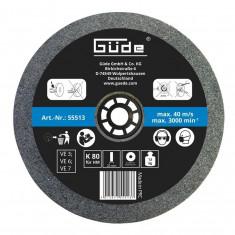 Disc abraziv pentru polizor de banc Guede Gude55513 O 200x20x32 mm K80