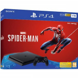 Consola SONY PlayStation 4 Slim (PS4 Slim) 1TB, Jet Black + joc Marvel's Spider-Man