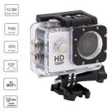 Action Camera 1080P Full HD 12MP, 2 Inch LCD cu functie WIFI, Rezistenta la apa, Card de memorie