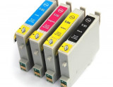 Set 4 cartuse compatibile Epson T0551 T0552 T0553 T0554
