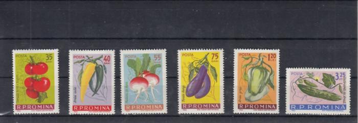 ROMANIA 1963  LP 556  CULTURA LEGUMELOR  TIMPURII   SERIE  MNH