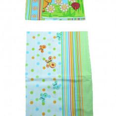 Set lenjerie de pat 2 piese 100 x 135 cm pentru copii IKS 2 SLPSB-19, Multicolor