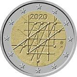 RAR !! - Finlanda moneda comemorativa 2 euro 2020 - Universitatea Turku - UNC, Europa