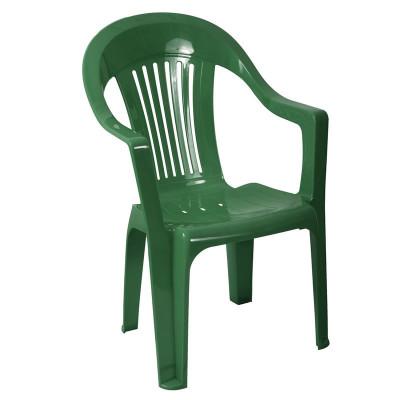 Scaun pentru gradina Sole, plastic, verde foto