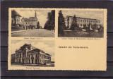 TURNU SEVERIN  LICEUL MONUMENTUL BULEVARDUL REGELE CAROL I   1936 STAMPILA TREN