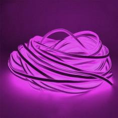 Furtun luminos LED violet, flexibil, putere 5W, alimentare retea