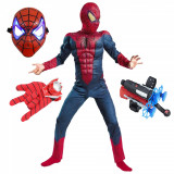 Set costum Spiderman cu muschi si accesorii pentru baieti