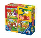 Cumpara ieftin Puzzle magnetic Animale, 3 in 1