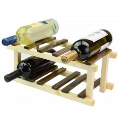 Suport din lemn pentru 6 sticle de vin