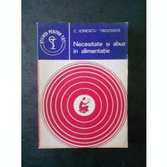 C. IONESCU TARGOVISTE - NECESITATE SI ABUZ IN ALIMENTATIE