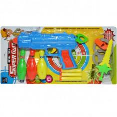 Pistol cu ventuze si accesorii, 1 set/blister