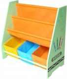 Organizator carti si jucarii cu cadru din lemn Green Crayon