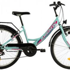 Bicicleta Copii Kreativ 2414 400Mm Turcoaz Light 24 Inch