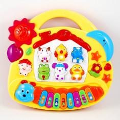 Pianina pentru copii cu animalute - Jucarie educationala!